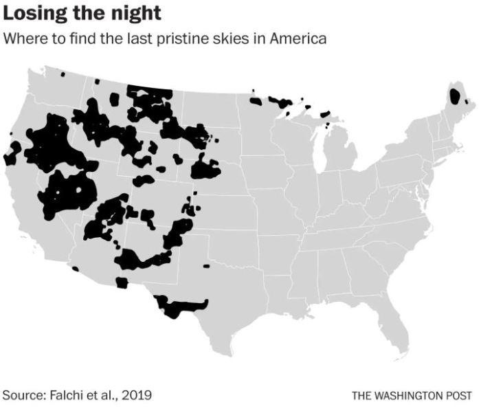 loosing the night sky graphic