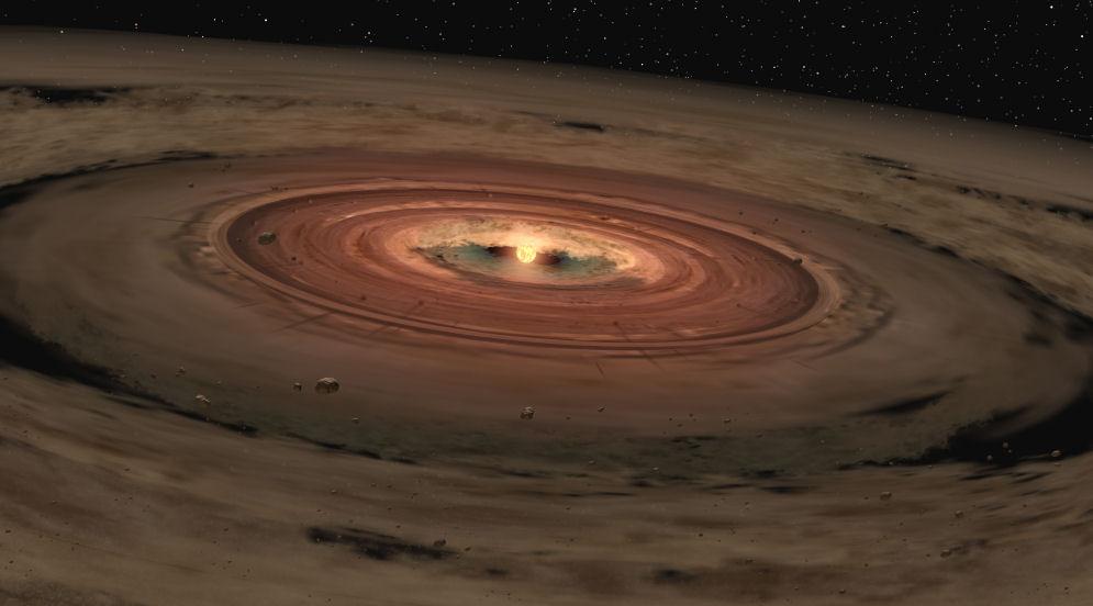 disco protoplanetário de terra NASAsm