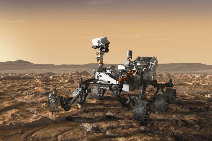 Artist's impression of Perseverance on Mars. (NASA/JPL-Caltech)