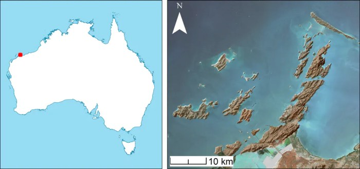 Site of a seabed digsite in western australia