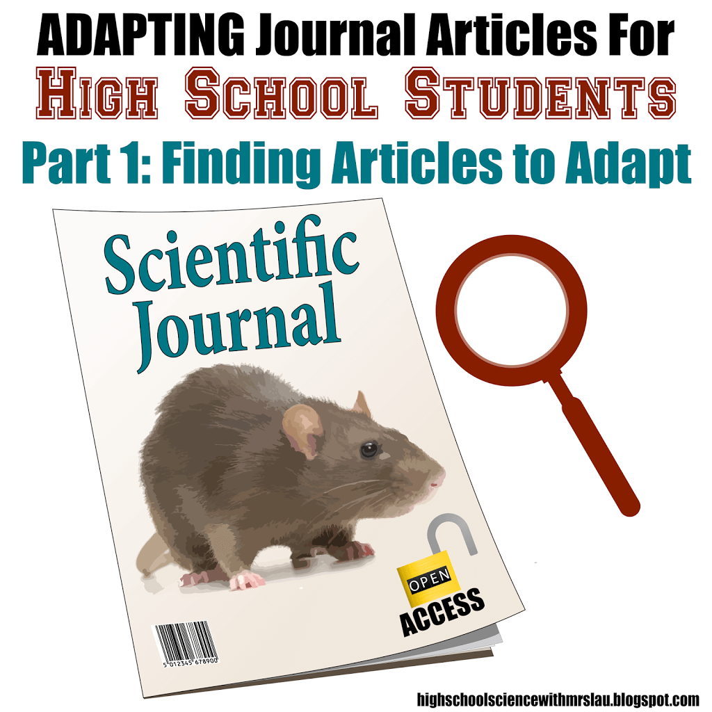 Adapting Journal Articles For High School Students Part 1 Science
