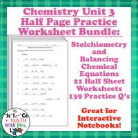 Stoichiometry Worksheets