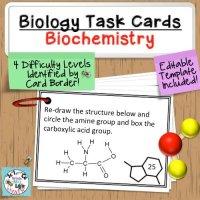 Biochemistry Biology Task Cards