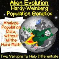 Alien Evolution: Hardy Weinberg Population Genetics