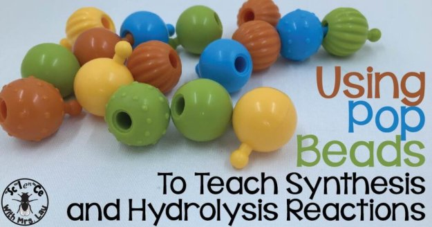 Pop beads synthesis hydrolysis-100