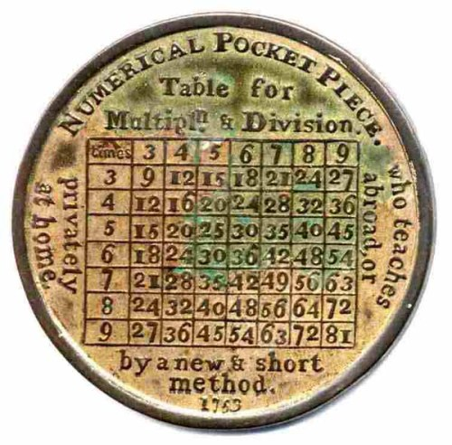 Numerical Pocket Piece