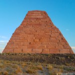 Zoomed out shot of the Ames pyramind. Kuiper is barely visible at the base.