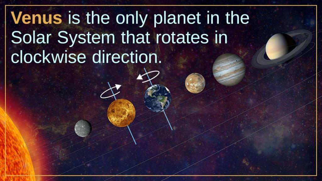 the rotation of Venus