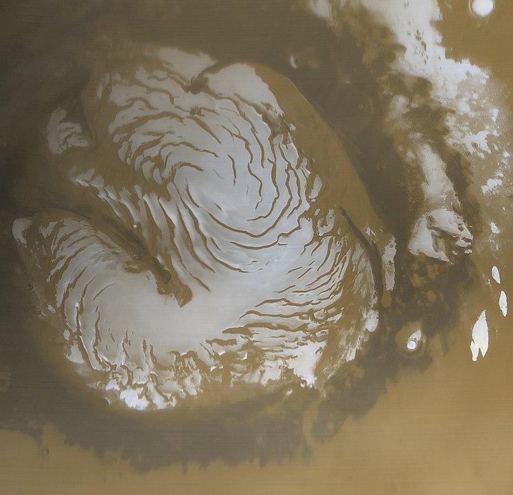 Mars north polar ice cap