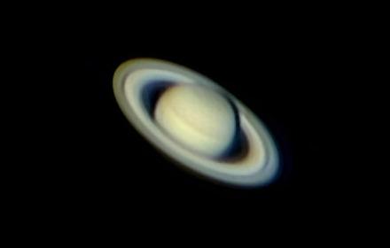Saturn through a telescope