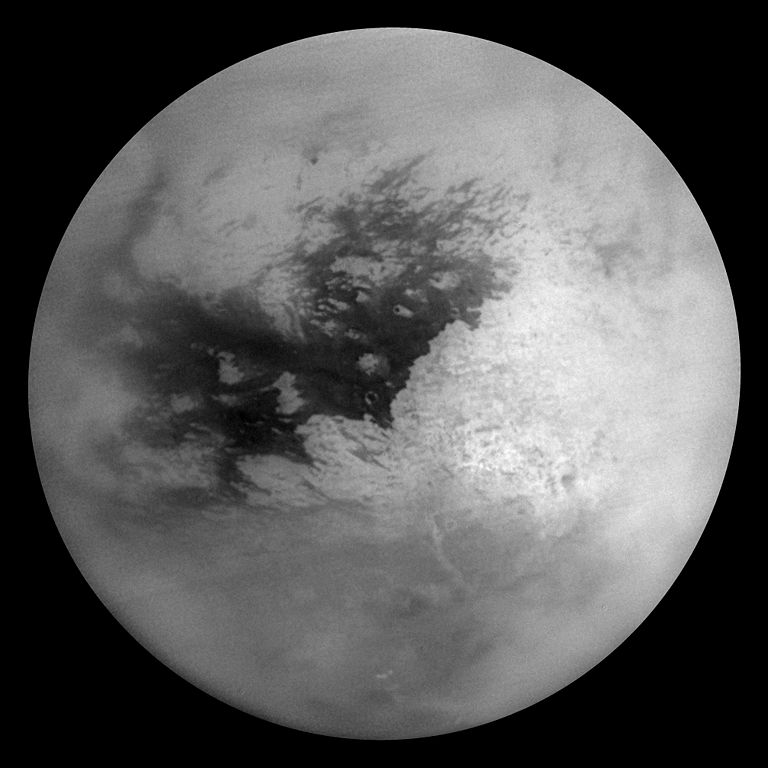 A picture of Titan from space