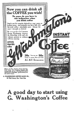 flyer for george washinton coffee