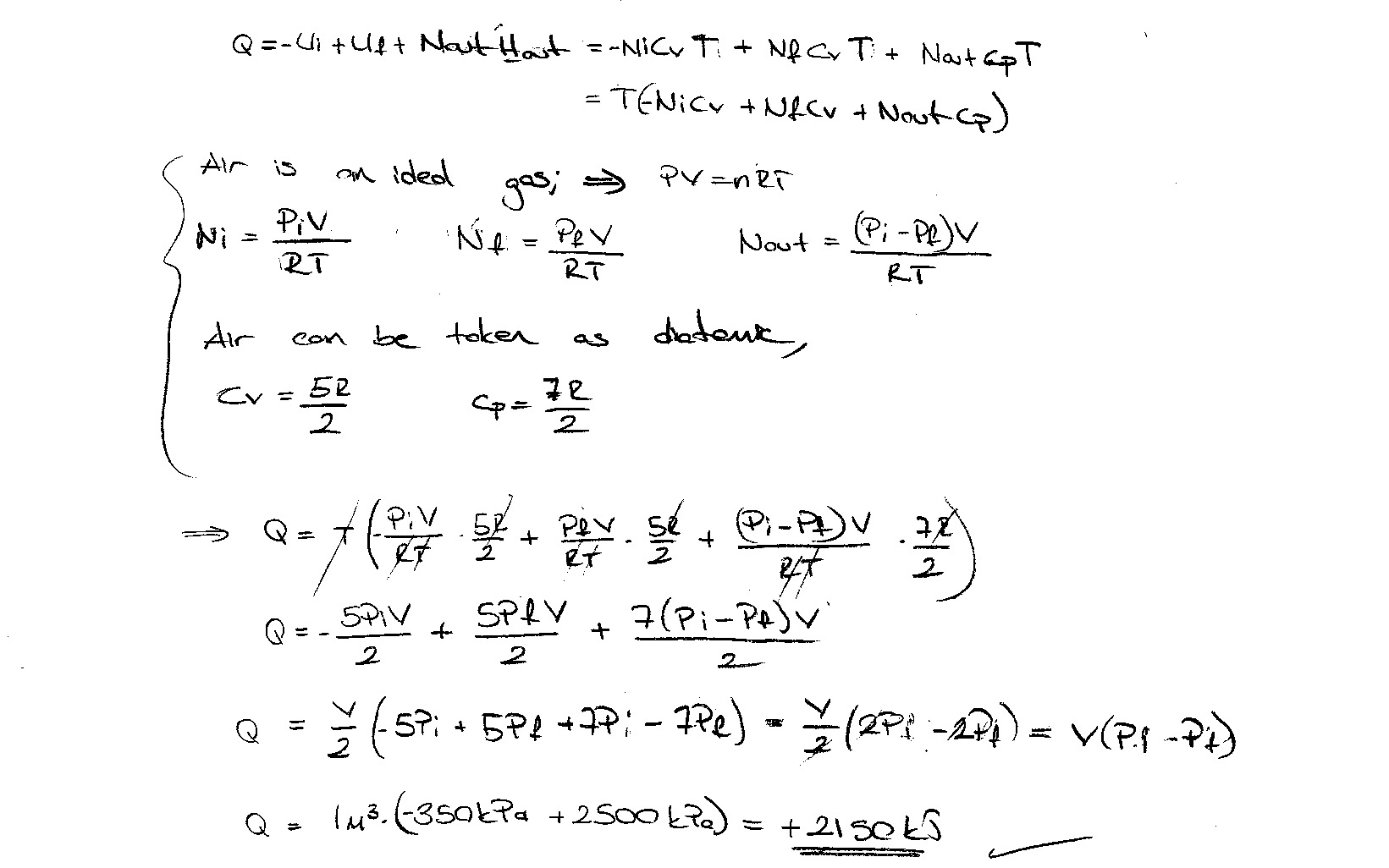 Thermodynamic Homework About 1st And 2nd Law Of