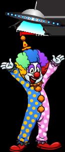 Why don't aliens eat clowns? joke
