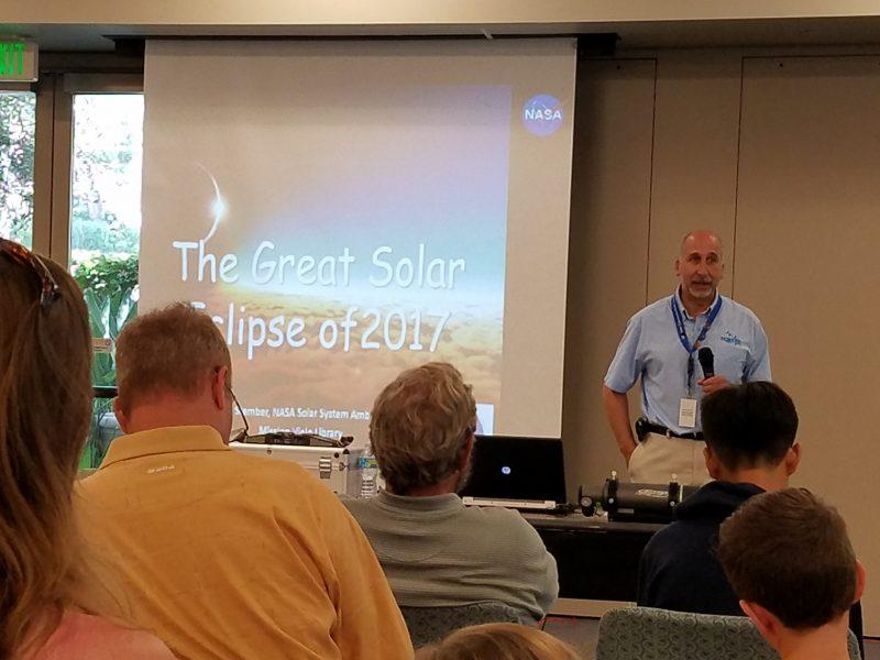 Solar eclipse talk.