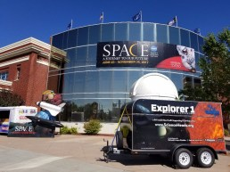 Science Heads' Mobile Observatory outside the Museum of Idaho in Idaho Falls.