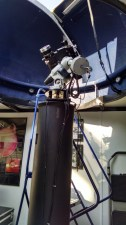 Our solar telescopes are mounted on the pier inside the Mobile Observatory