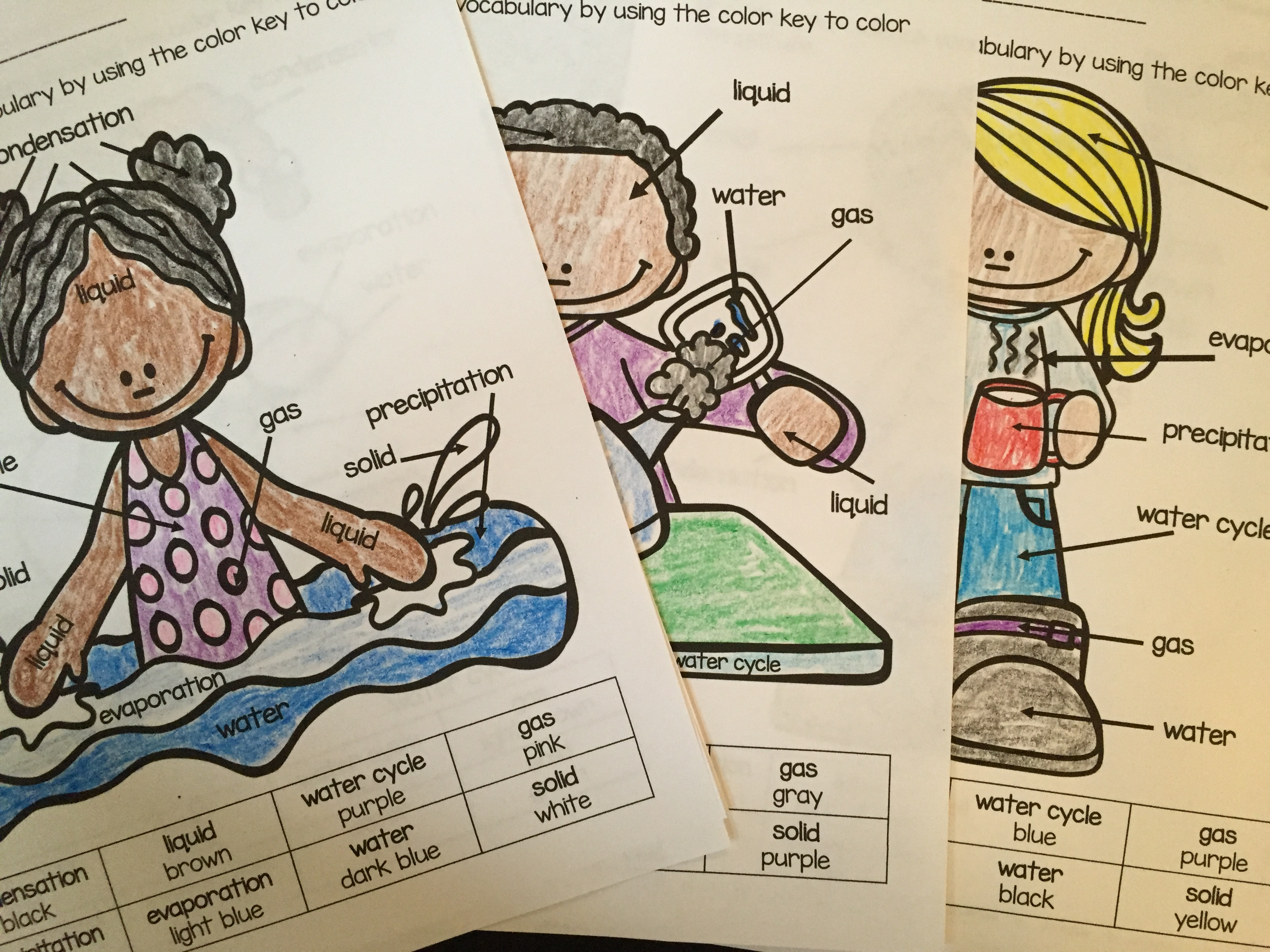 Teaching Water Cycle Vocabulary