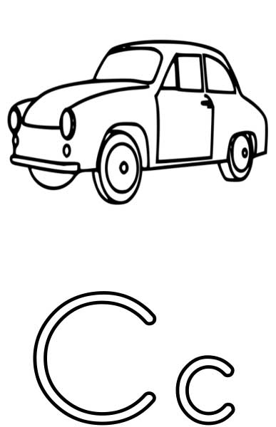the letter c coloring page for kids free printable picture