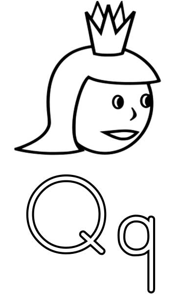 letter q coloring page # 9