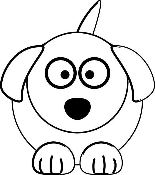 cute dog coloring page for kids free printable picture
