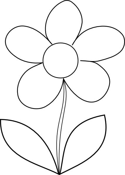 coloring pages flower # 6