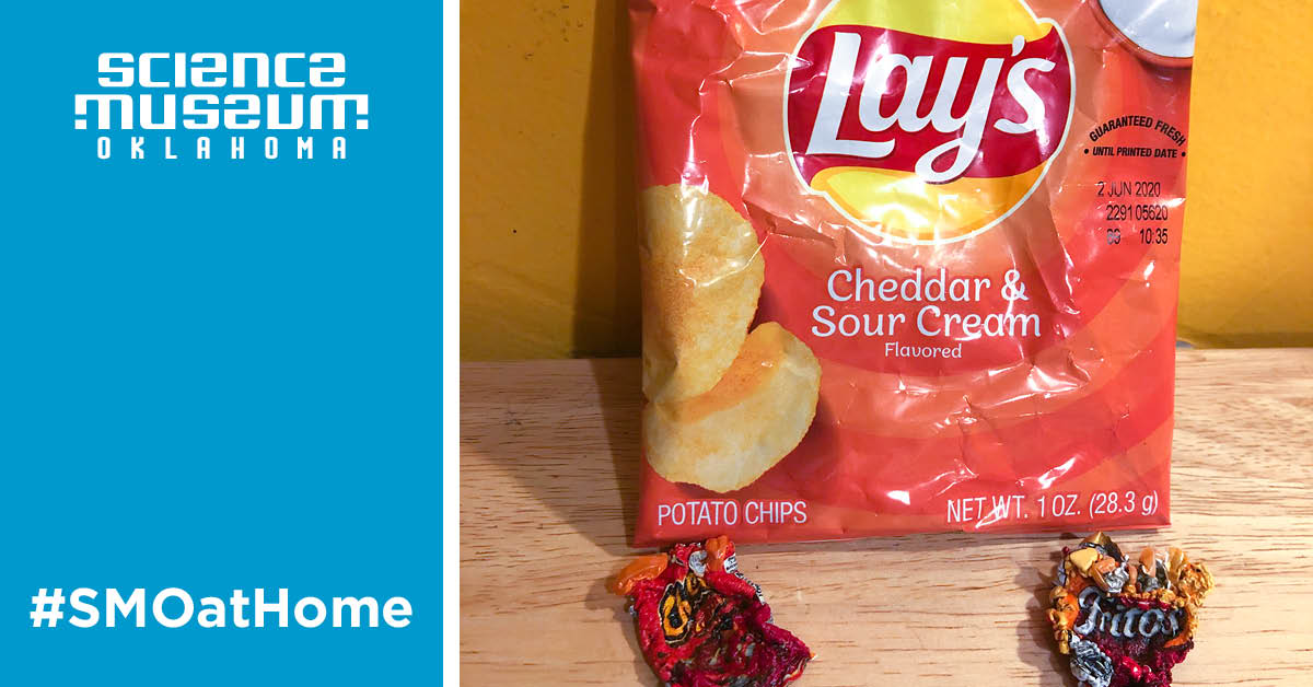 try this shrink a chip bag science