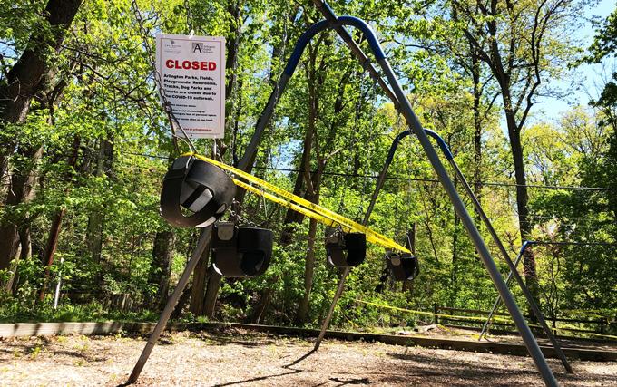 Closed Arlington playground