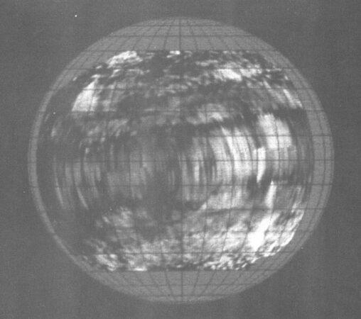 radar image of Venus' surface