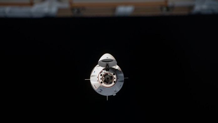 SpaceX Crew Dragon approaching the ISS