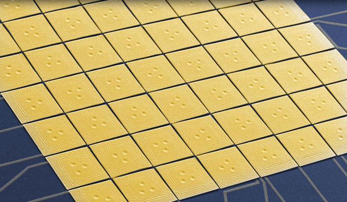 microscope image of detectors