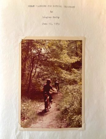 a photo of the cover of Doug Hefty's written report from 1973