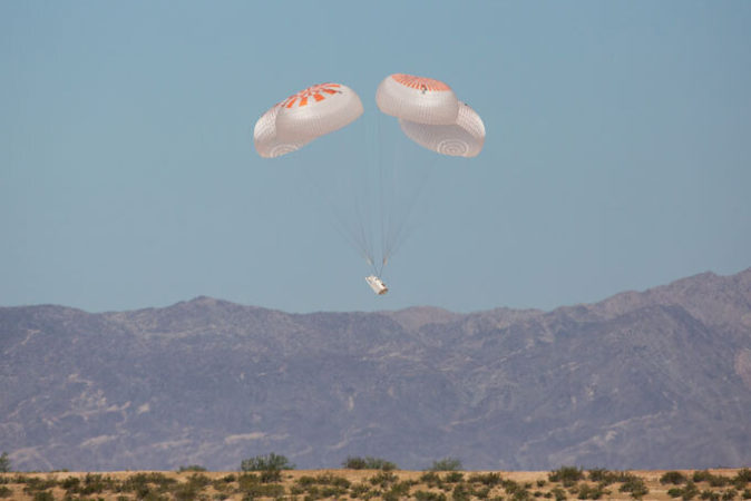 Crew Dragon's parachute test
