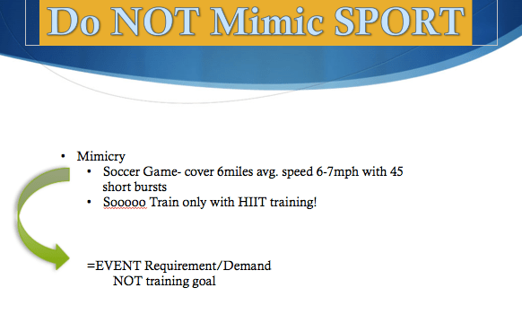 Soccer as the Battle between Endurance and Speed.