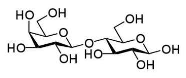 Estructura química de lactosa