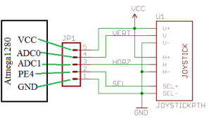 thumstick joystick to atmega1280
