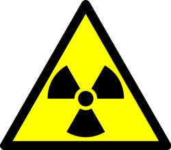 Caution: Radioactive material.