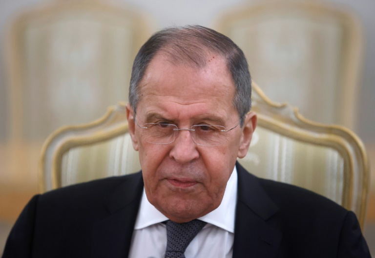 Russian Foreign Minister Sergey Lavrov, May 12, 2021 in Moscow (POOL / AFP / Archive - MAXIM SHEMETOV)