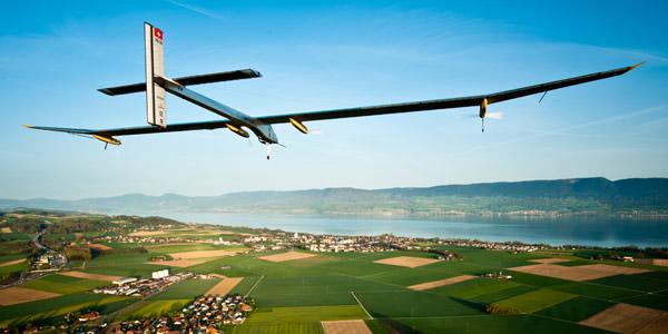 Het zonnevliegtuig. Foto: © Solar Impulse   Jean Revillard.