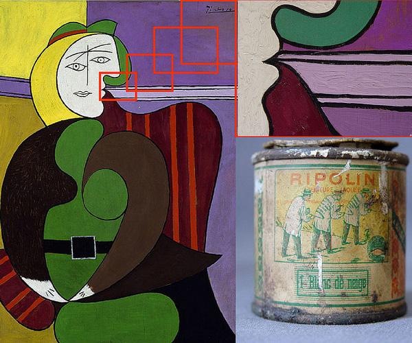 Het werk dat de onderzoekers bestudeerden. Afbeelding: Art Institute of Chicago, Mr. and Mrs. Daniel Saidenberg (AIC 1957.72) © Estate of Pablo Picasso / Artists Rights Society (ARS), New York.