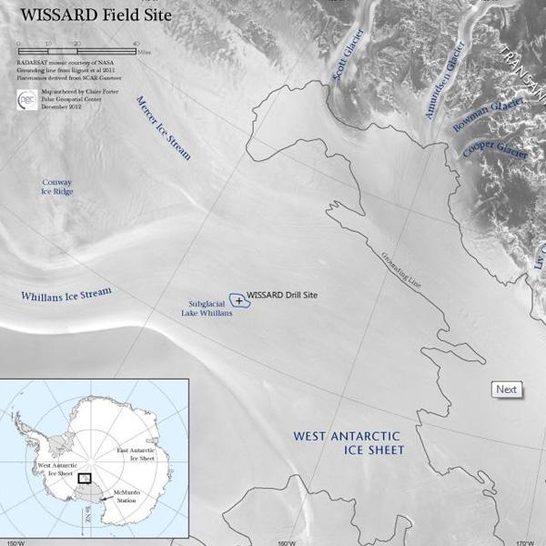 Het gebied waar de onderzoekers aan de slag gingen. Afbeelding: WISSARD.org.