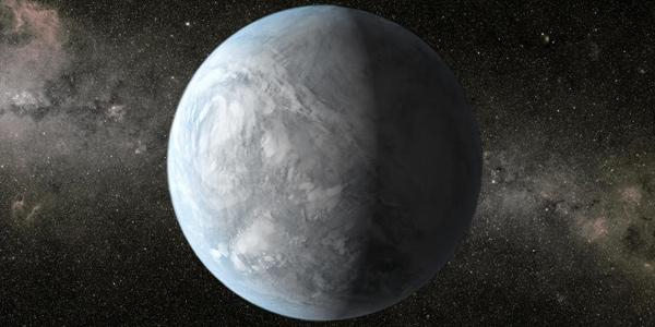 Een artistieke impressie van Kepler-62e. Afbeelding: NASA Ames / JPL-Caltech.