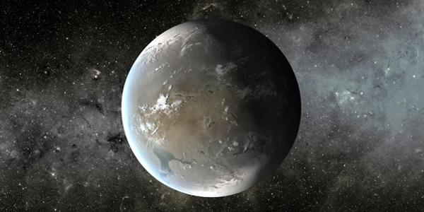 Een artistieke impressie van Kepler-62f. Afbeelding: NASA Ames / JPL-Caltech.