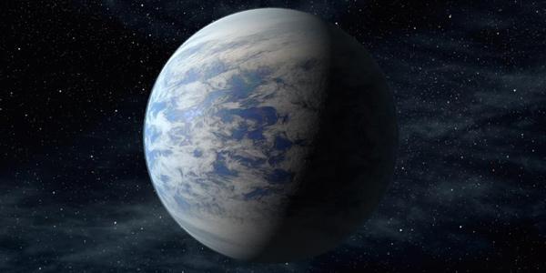 Een artistieke impressie van Kepler-69c. Afbeelding: NASA Ames / JPL-Caltech.