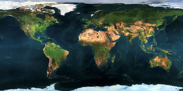 Kaart Aarde