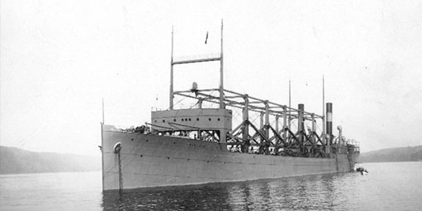 De USS Cyclops in 1911. Afbeelding: US Navy.