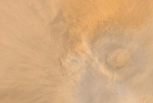 Arsia Mons. Afbeelding: MSSS / NASA.