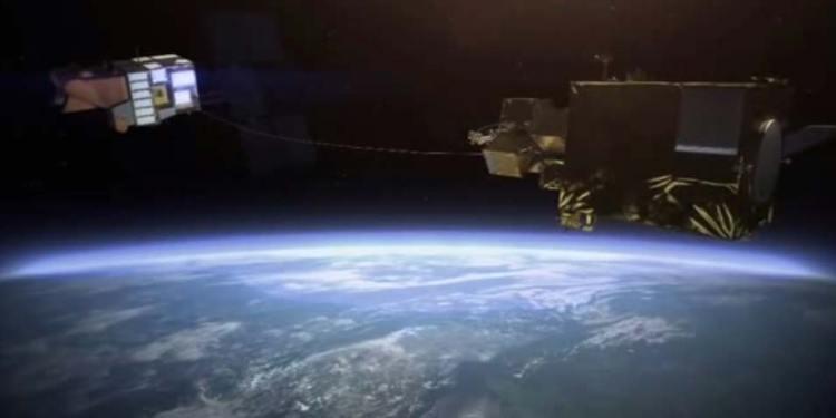De harpoen in actie. Afbeelding: Airbus Defence and Space.