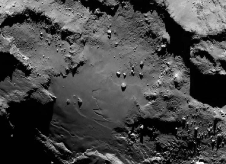 In close-up. Afbeelding: ESA / ROSETTA / NAVCAM.