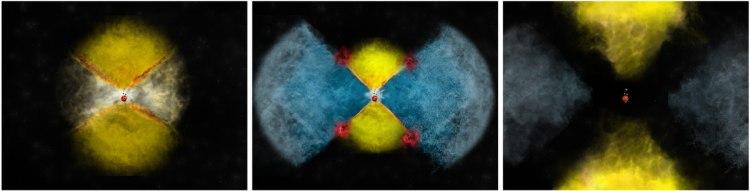 Hoe er gammastraling ontstaat bij een nova.